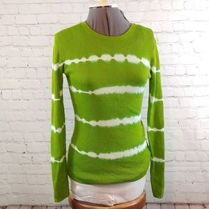 MICHAEL KORS TIED DYED LONG SLEEVE TOP